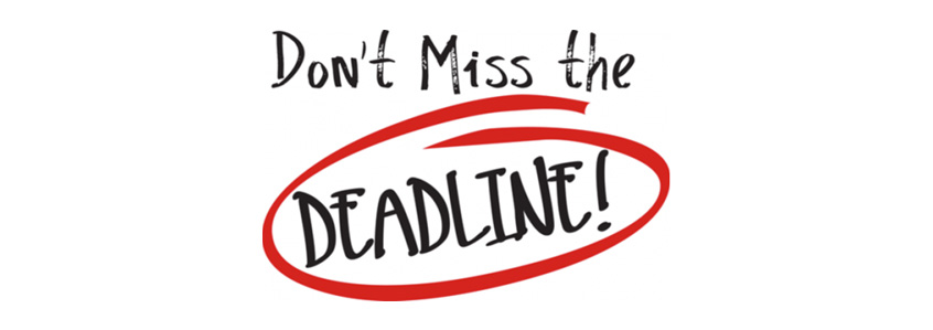 Late Registration deadline approaching - register now and save!y
